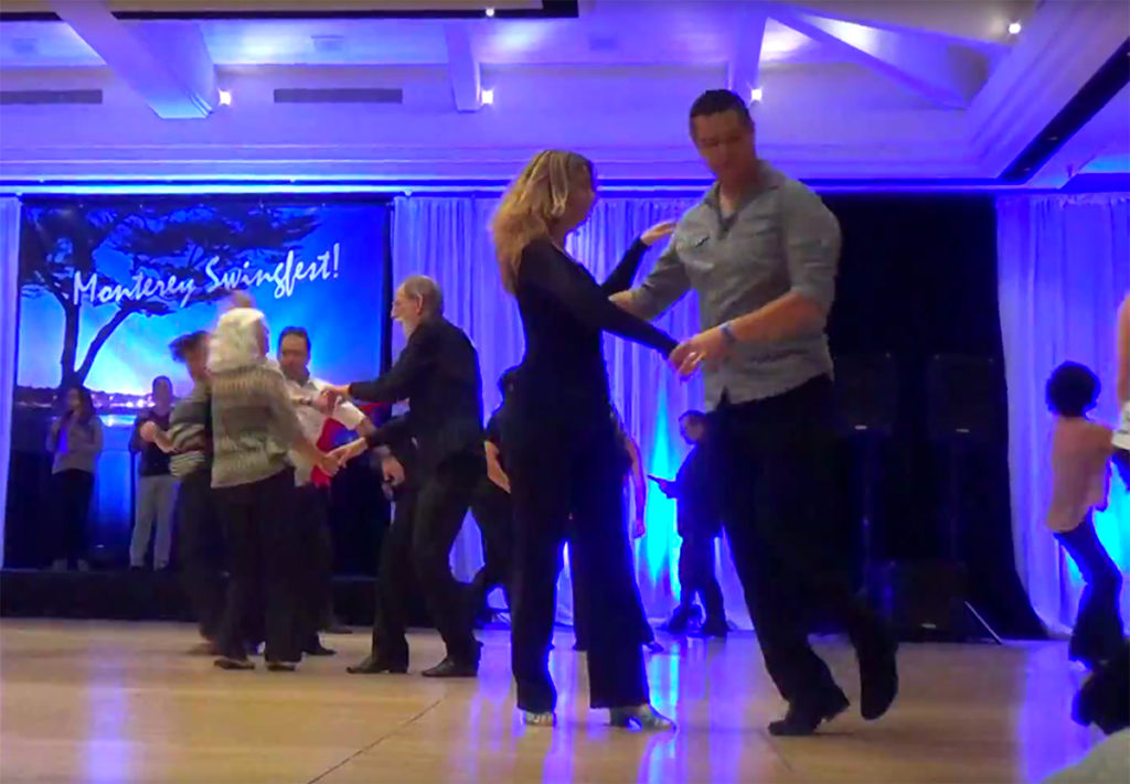 Jennifer and Rene compete at Monterey Swingfest